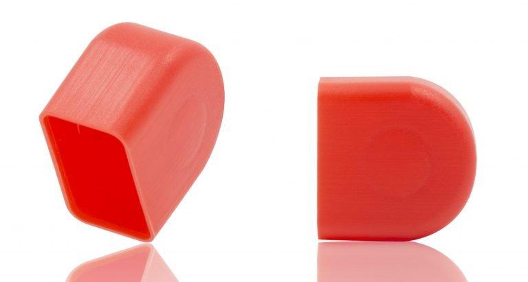 Schutzkappen für Ringstutzen rot